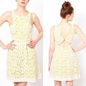 ASOS Dresses - ASOS Anthro Valencia Lace Dress w Open Back Leathe